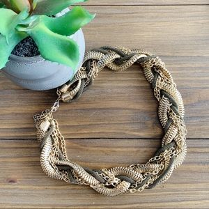 Braided Mixed-Metal Chain Necklace